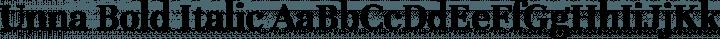 Unna Bold Italic free font