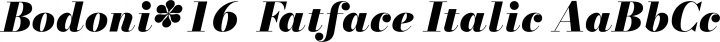 Bodoni* 16  Fatface Italic free font