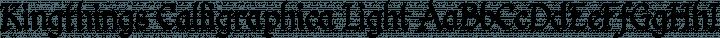 Kingthings Calligraphica Light free font