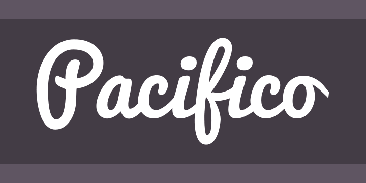 graphic regarding Free Printable Fonts No Download identify Pacifico Font Free of charge by means of Vernon Adams » Font Squirrel