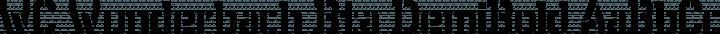 WC Wunderbach Bta DemiBold free font