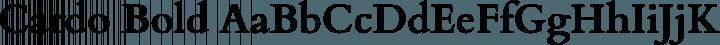 Cardo Bold free font