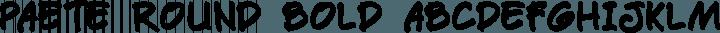Paete Round Bold free font