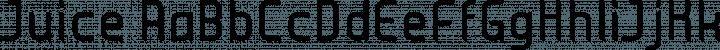 Juice font family by Gadisradio