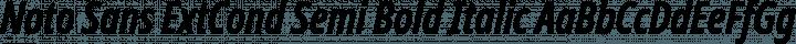 Noto Sans ExtCond Semi Bold Italic free font