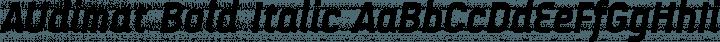 AUdimat Bold Italic free font