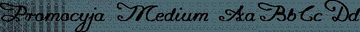Promocyja Medium free font