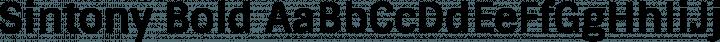 Sintony Bold free font