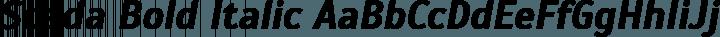 Scada Bold Italic free font