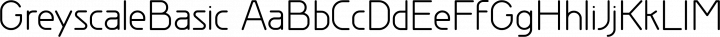 GreyscaleBasic Regular free font