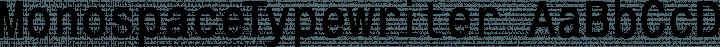 MonospaceTypewriter font family by Manfred Klein Fonteria