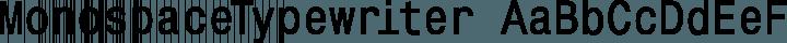 MonospaceTypewriter Regular free font