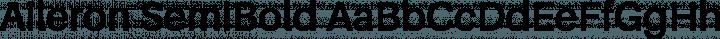 Aileron SemiBold free font