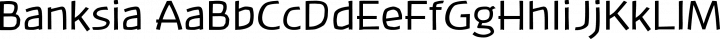 Banksia Regular free font