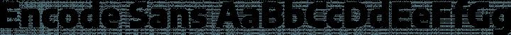 Encode Sans font family by Impallari Type