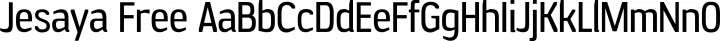 Jesaya Free Regular free font