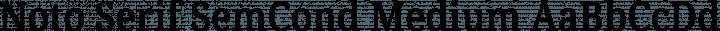 Noto Serif SemCond Medium free font