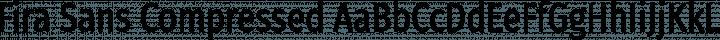 Fira Sans Compressed Regular free font