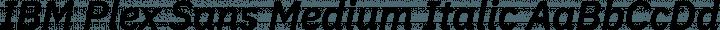 IBM Plex Sans Medium Italic free font