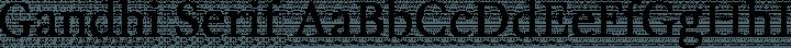 Gandhi Serif font family by Librerias Gandhi S.A. de C.V.