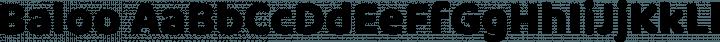 Baloo font family by EK Type