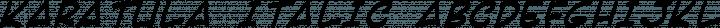 Karatula Italic free font