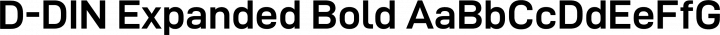 D-DIN Expanded Bold free font
