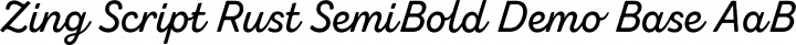 Zing Script Rust SemiBold Demo Base free font