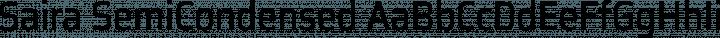 Saira SemiCondensed Regular free font