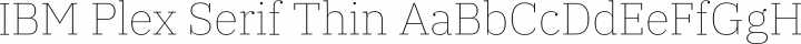 IBM Plex Serif Thin free font