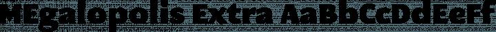 MEgalopolis Extra Regular free font
