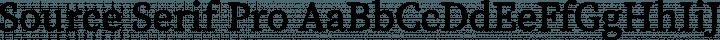 Source Serif Pro Regular free font