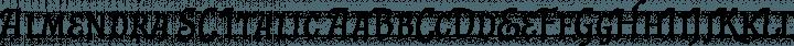 Almendra SC Italic free font