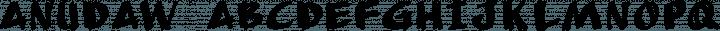 AnuDaw Regular free font