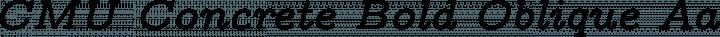 CMU Concrete Bold Oblique free font