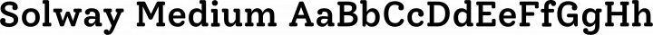 Solway Medium free font