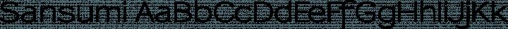 Sansumi Regular free font