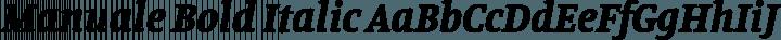 Manuale Bold Italic free font