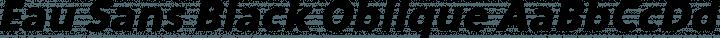 Eau Sans Black Oblique free font