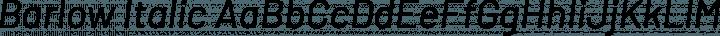 Barlow Italic free font
