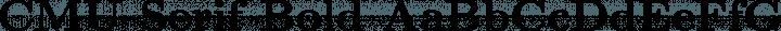CMU Serif Bold free font