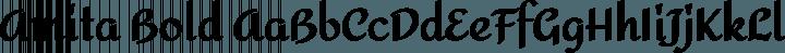 Amita Bold free font