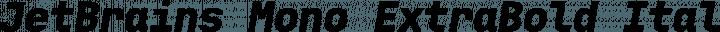 JetBrains Mono ExtraBold Italic free font