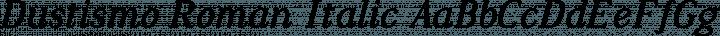 Dustismo Roman Italic free font