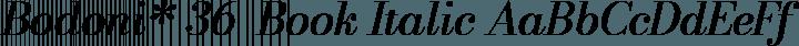 Bodoni* 36  Book Italic free font