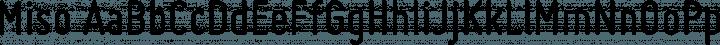 Miso Regular free font