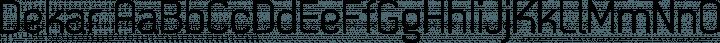 Dekar font family by Fontfabric