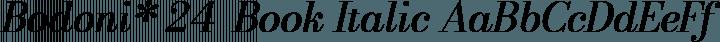 Bodoni* 24  Book Italic free font