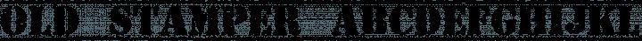 Old Stamper font family by Cpr.Sparhelt