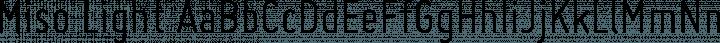 Miso Light free font